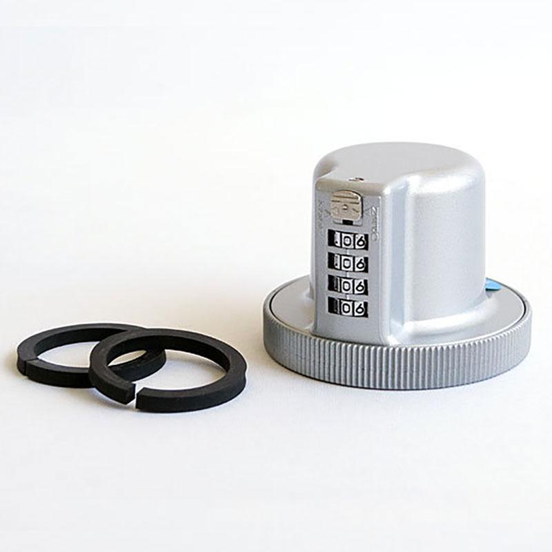 ロックブロック5型 握玉用(ダイヤル版) YK-11000 代引手料無料 送料無料 ピッキングから鍵を守るドアノブ用の暗証番号式ロックです。 カギ V型 対策 防犯 玄関 防犯グッズ