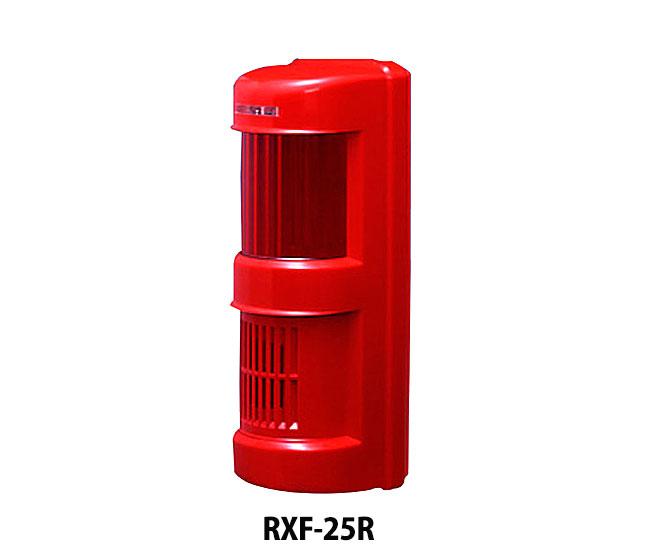 TAKEX サイレン・フラッシュ付き受信機 RXF-25R(4周波対応) レッド 竹中エンジニアリング 小電力ワイヤレスシステム 防犯グッズ