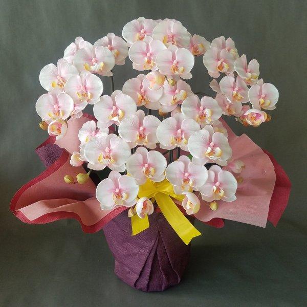 胡蝶蘭-絞りピンク 新作多数 正規品送料無料 5F高さ70cm×巾40cm造花 光触媒