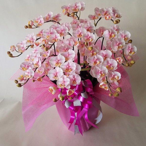 胡蝶蘭S-絞りピンク 10F高さ60cm×巾55cm造花・光触媒