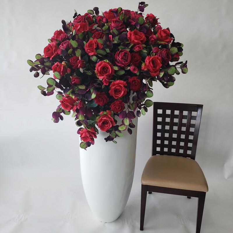 大型アレンジ造花·赤バラMIX·高150×幅80×奥行65