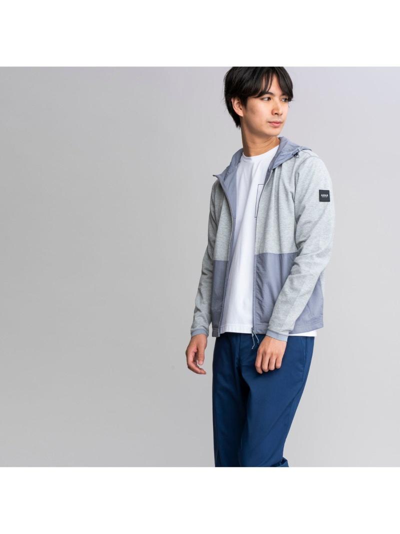 AIGLE メンズ コート ジャケット エーグル 吸水速乾 ファブリック ブロッキング Rakuten Fashion 年間定番 グレー 正規逆輸入品 送料無料 ジップパーカ ホワイト ナイロンジャケット