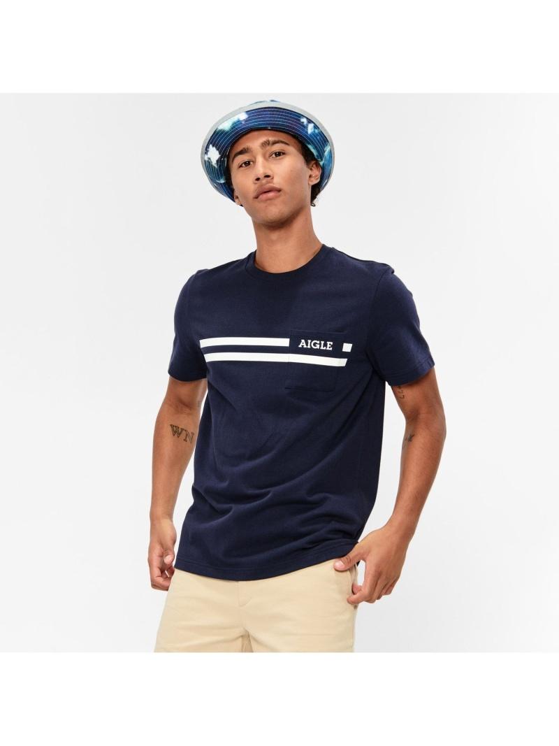 AIGLE メンズ 定番 カットソー エーグル ロモール Tシャツ キャンペーンもお見逃しなく 送料無料 ブルー Fashion ネイビー Rakuten