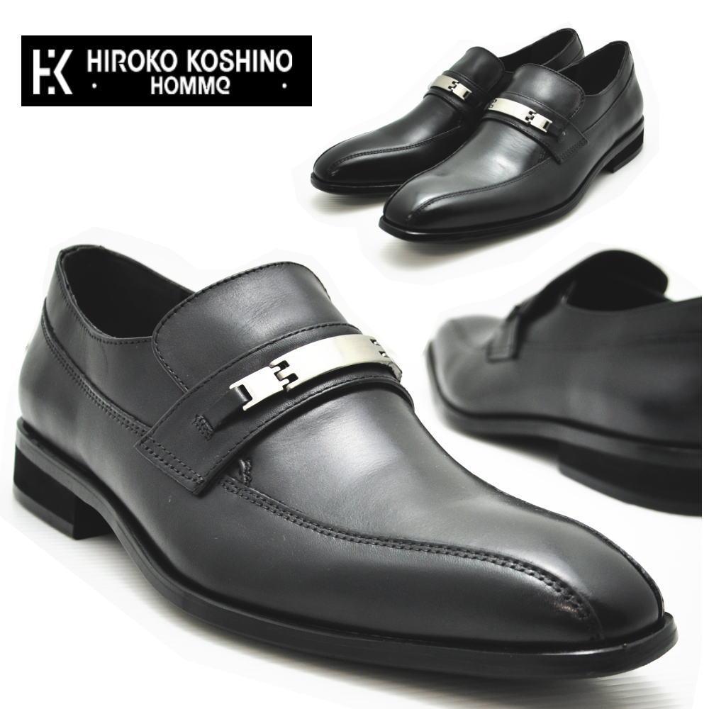本革/ヒロココシノ 《HIROKO KOSHINO HOMME》 ローファー/ビット No130