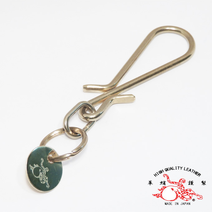 «Leather Octopus» brass hook ラージキー オクトパ spot regular handling partner shop guarantees peace of mind