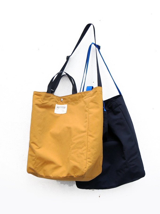 WONDER BAGGAGE SUNNY SERIES RELAX TOTE relaxation Thoth MUSTARD mustard /BLACK black