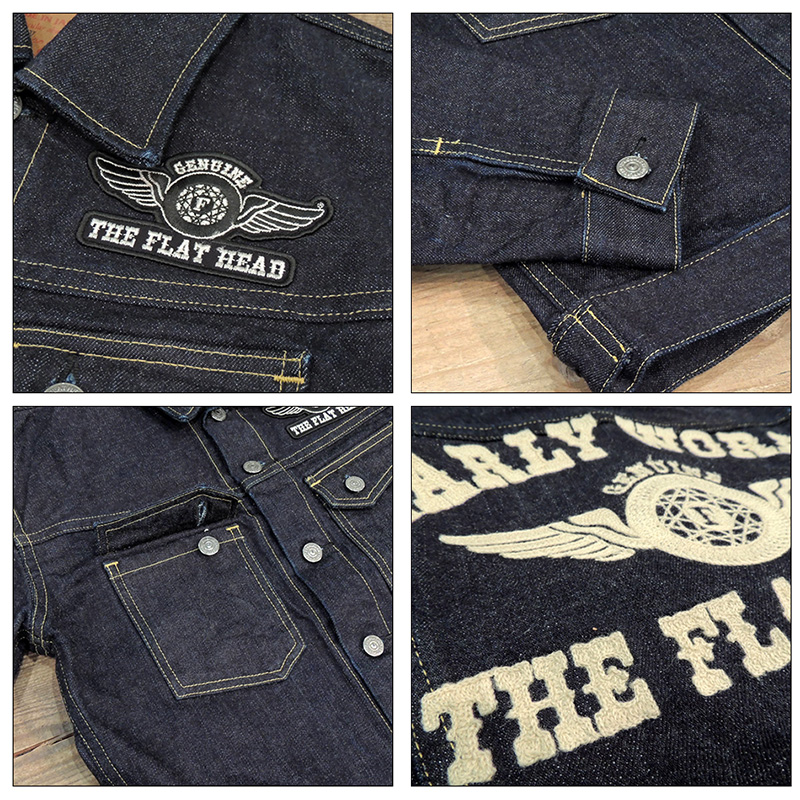 《THE FLAT HEAD》 DENIM JACKET 6008WS/14.5oz 《2015AW_ITEM》