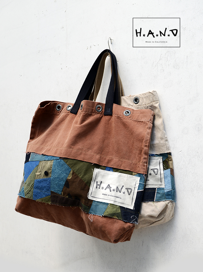 H.A.N.D (ハンド)  VINTAGE FABRIC TOTO BAG MADE IN CALIFORNIA