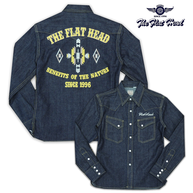 《THE FLAT HEAD》 DENIM WESTERN SHIRT 7001W-SP13/ 《SPECIAL ITEMS》訳アリ/特別価格☆