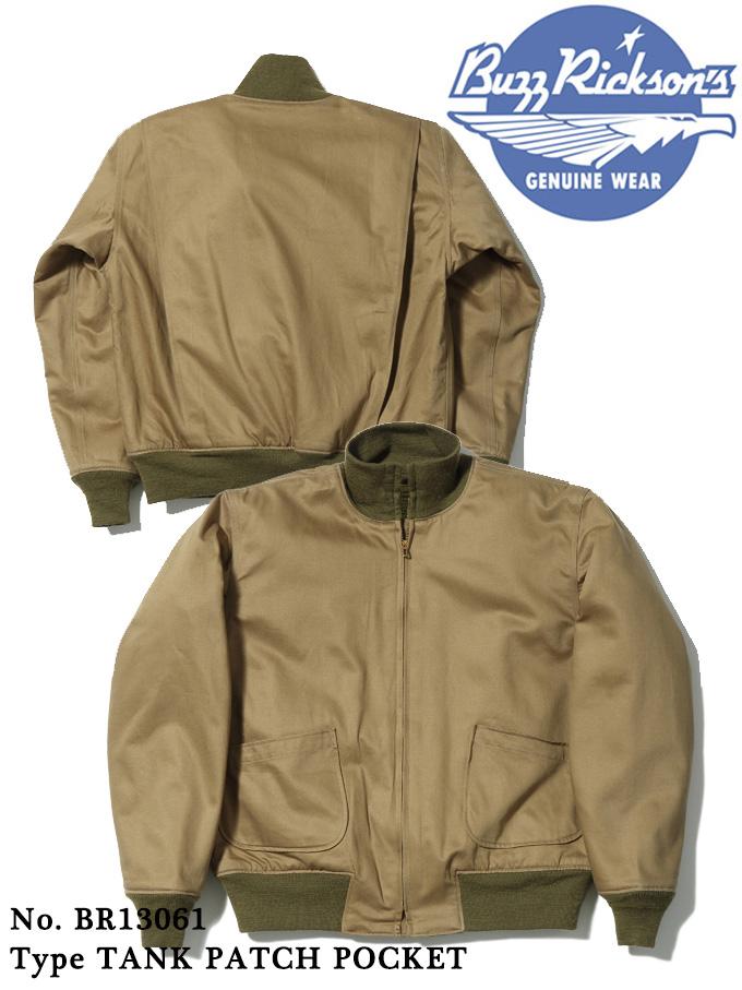 永遠の定番モデル 通称タンカースと呼ばれるこのジャケット パッチポケットの初期型タイプ BUZZ RICKSON'S バズリクソンズ JACKET メーカー直売 COMBAT WINTER Type TANK CO. POCKET PATCH OLIVE DRAB INC