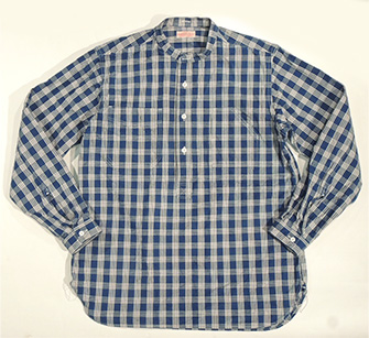 UNION SUPPLY/PALAKA CHECK PULLOVER SHIRT/Lot.US27124-421A-ONE-WASH)/SUGAR_CANE(cane)