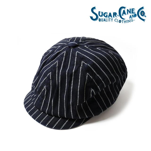 アメカジ キャスケット 評判 帽子 シュガーケーン by 最新 東洋エンタープライズ SUGAR CANE ウォバッシュアップルジャックキャップ CAP APPLEJACK STRIPE 2020AW再入荷 インディゴ WABASH Lot.SC02070