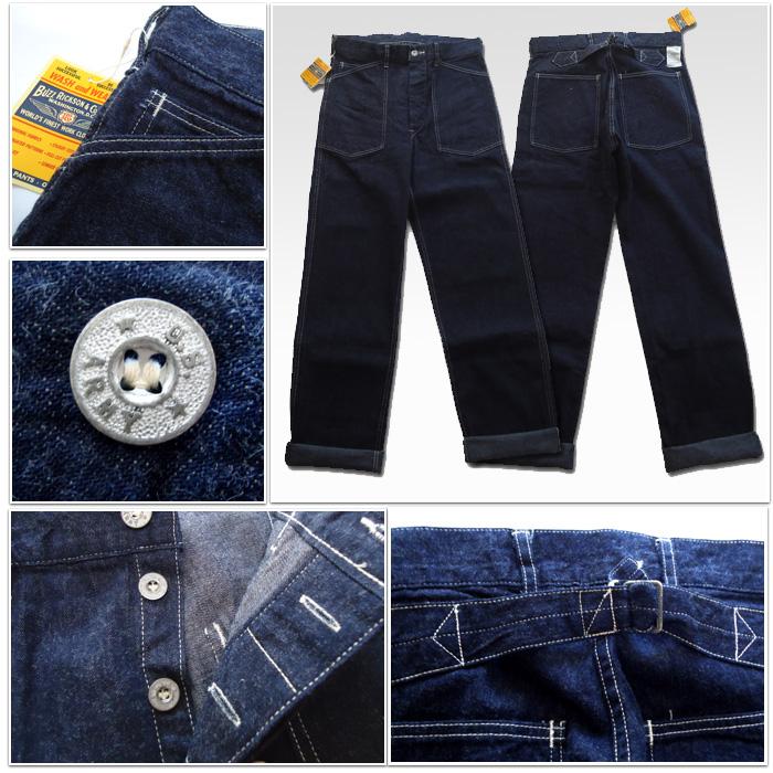 Made in JAPAN-made trousers working denim BR43083A BuzzRickson's (Rickson) Oriental Enterprise Inc.