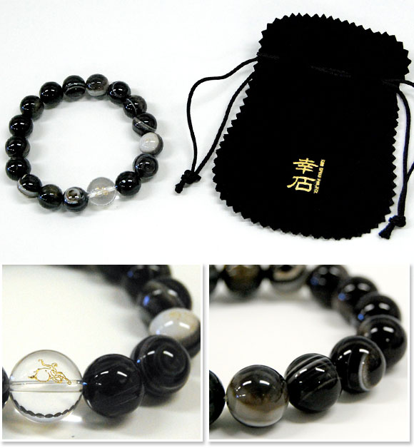 «Leather Octopus (don't know what-KAWATAKO) & Yukihiro stone» Indigo coloring another Hall note! Crystal 14 mm beads