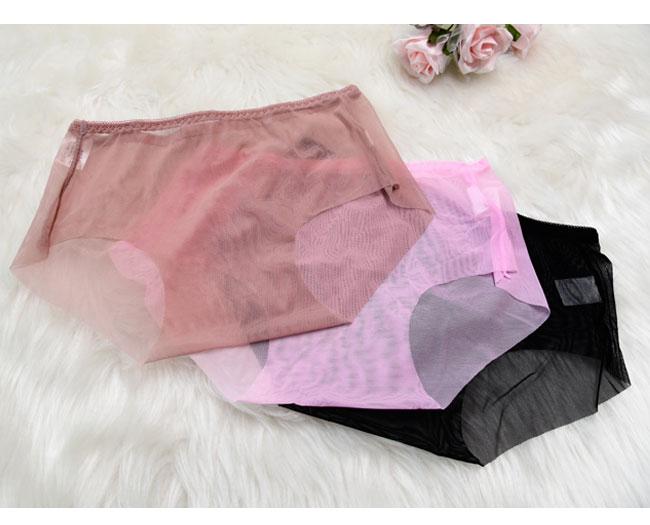 透明短褲半透明性透明短褲後衛全部透明性感女性內衣性感女性內衣L尺寸LL尺寸大的尺寸黑色[n]