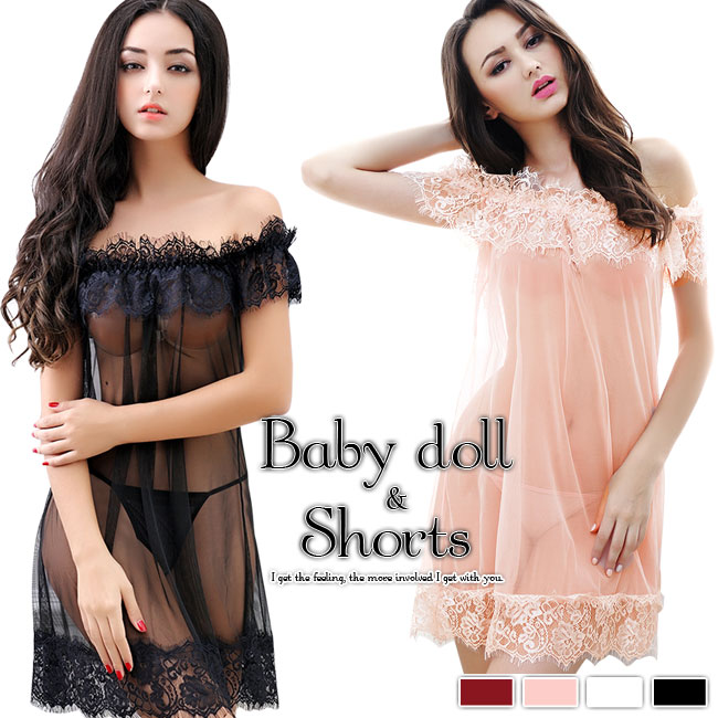 e72791958 Baby doll shorts baby doll sexy lingerie sexy lingerie shorts T  バックセットレースオレンジブラック ...