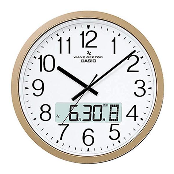 【内祝い お返し】CASIO カシオ 電波掛時計 IC-4100J-9JF<※【出産内祝い/出産祝い/ギフト/結婚内祝い/結婚祝い/入学内祝い/入学祝/結婚式引き出物/法事/引越し 挨拶/粗品】>【ギフト・ラッピング無料・おしゃれ かわいい】
