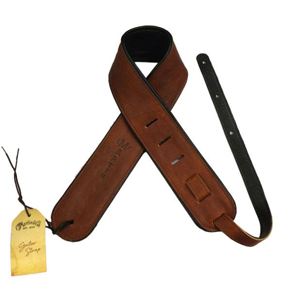 MARTIN/マーチン 18A0028 Premium Rolled Leather ギターストラップ ブラウン
