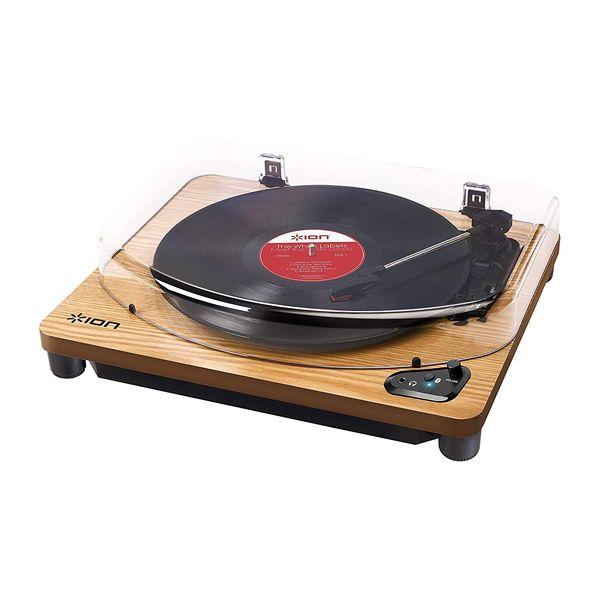【送料込】ION AUDIO Air LP WD 天然木 Bluetooth対応 レコードプレーヤー 【smtb-TK】