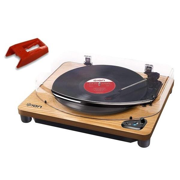 【送料込】【純正交換針(1個)セット】ION AUDIO Air LP WD 天然木 Bluetooth対応 レコードプレーヤー【smtb-TK】
