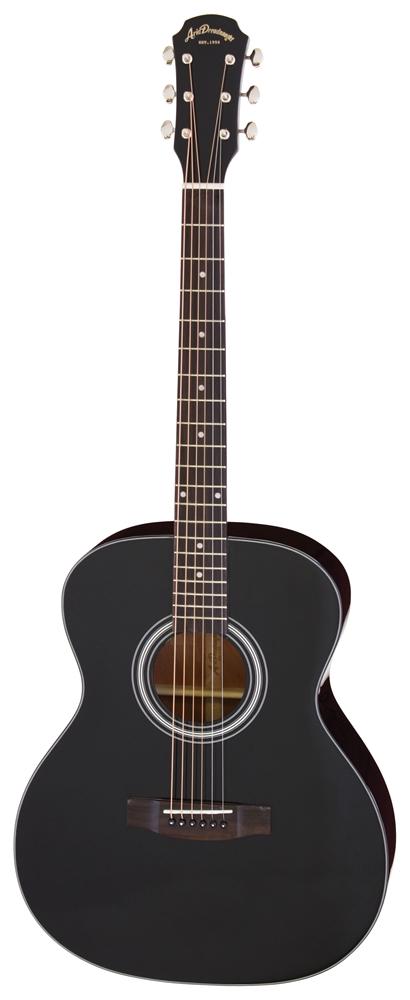 【送料込】【ケース付】ARIA/アリア AF-201 BK トップ単板 アコースティックギター【smtb-TK】