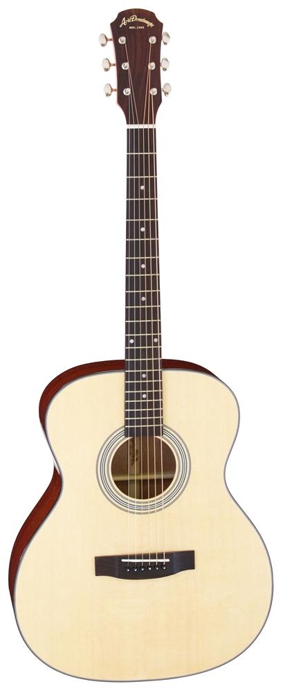 【送料込】【ケース付】ARIA/アリア AF-201 LH N レフトハンド トップ単板 アコースティックギター 左利き用【smtb-TK】