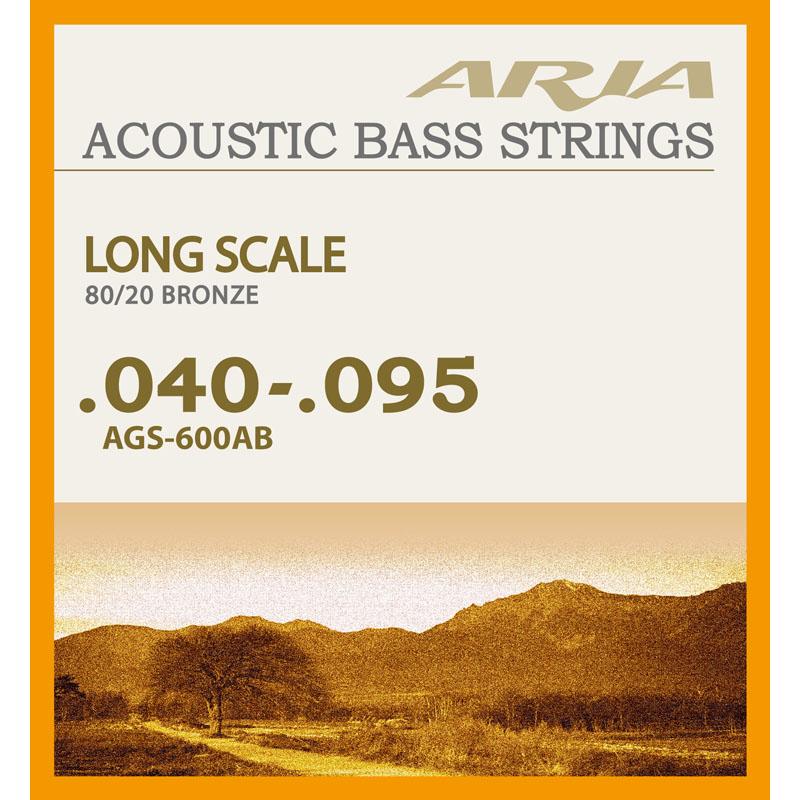 メール便 送料無料 直営限定アウトレット 代引不可 1セット ARIA 通販 激安 smtb-TK アコースティックベース弦 AGS-600AB 40-95 アリア