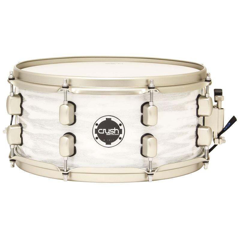 【送料込】Crush/クラッシュ SMAS13X6 612 High Gloss White w/Silver Sparkle スネアドラム 【smtb-TK】