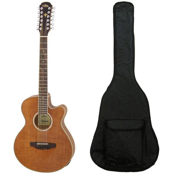 【送料込】【ケース付】Aria/アリア FET-12/SPL N 12弦ギター ピックアップ搭載 エレアコ【smtb-TK】