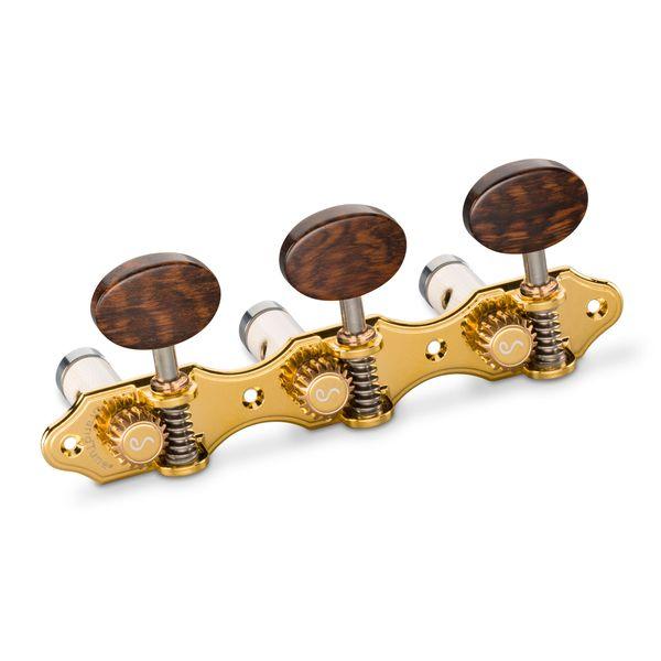 【送料込】Schaller シャーラー GTC Hauser GO66(40) [Gold/Snakewood oval(ボタン)/White deluxe(ポスト)] クラシックギター用ペグ(糸巻き)セット【smtb-TK】