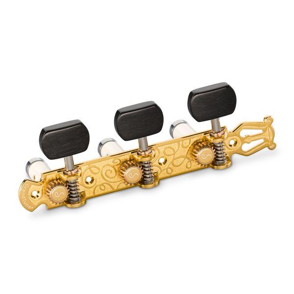 【送料込】Schaller シャーラー GTC Lyra GO63(40) [Gold/Ebony square(ボタン)/White deluxe(ポスト)] クラシックギター用ペグ(糸巻き)セット【smtb-TK】