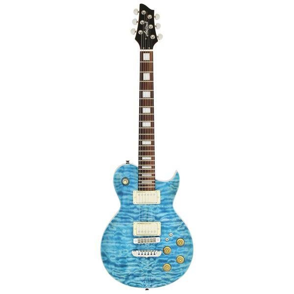 【送料込】【ケース付】Aria ProII アリアプロツー PE-480/SEBL See-through Emerald Blue キルテッドメイプル・トップ エレキギター【smtb-TK】