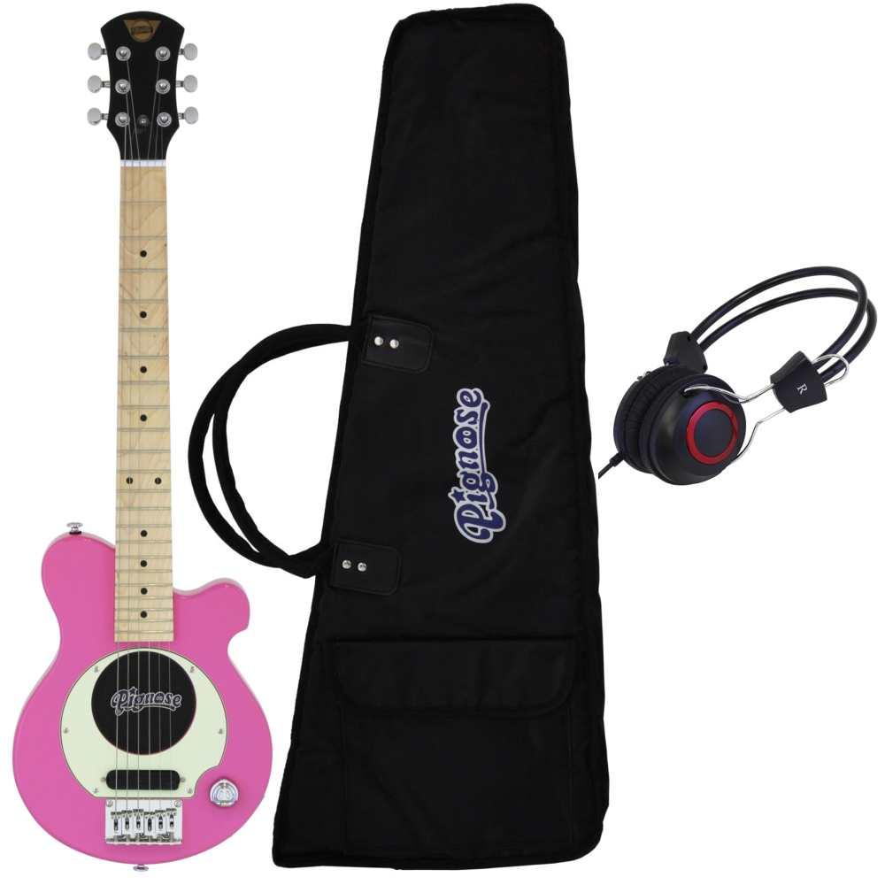 【送料込】【ヘッドホン付】Pignose ピグノーズ PGG-200 PK Pink アンプ内蔵ギター【smtb-TK】