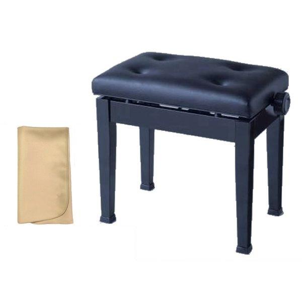 【お手入れクロスプレゼント!!】イトマサ ITOMASA AS/BK ピアノイス 高低自在椅子
