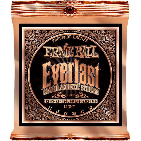 【メール便・送料無料・代引不可】【6セット】ERNIE BALL アーニーボール 2548 [11-52] Everlast Coated LIGHT アコースティックギター弦【smtb-TK】