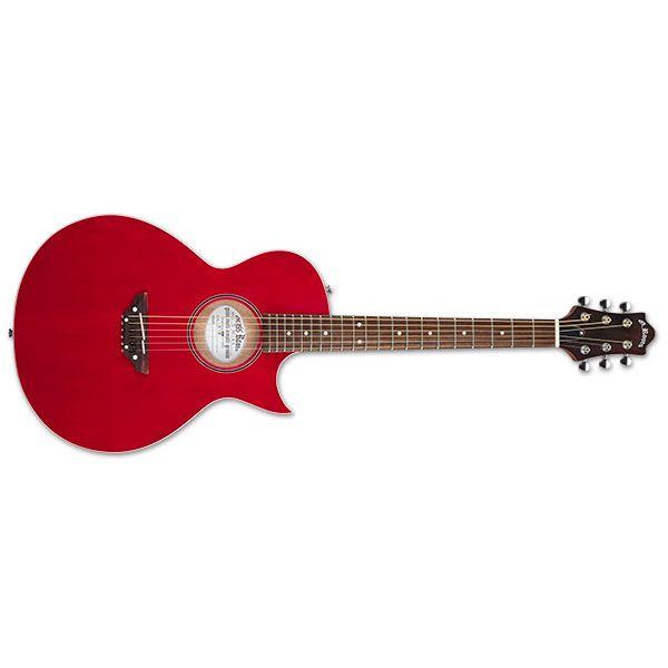 【送料込】GrassRoots グラスルーツ G-AC-45 See Thru Red エレキ感覚 アコースティックギター【smtb-TK】