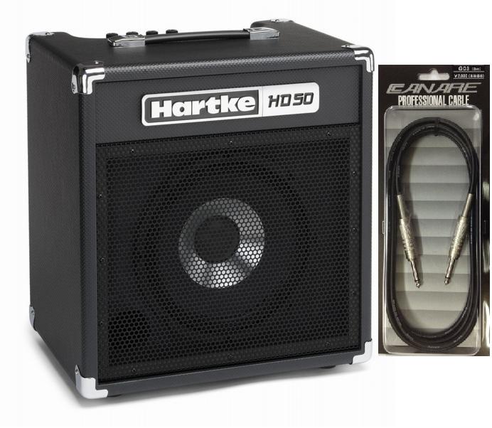【送料込】【CANARE G03付】Hartke/ハートキー HD50 10インチHyDriveスピーカー搭載 ベースアンプ コンボアンプ【smtb-TK】