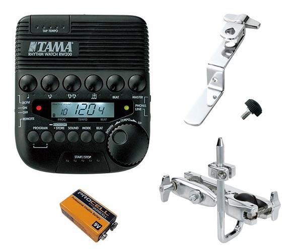 【送料込】【アタッチメント/MC69+マウントホルダー/RWH10+9V乾電池付】TAMA タマ RW200 RHYTHM WATCH【smtb-TK】