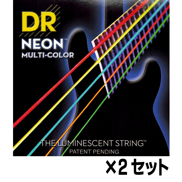 【メール便・送料無料・代引不可】【2セット】DR NMCB5-45 [45-125] NEON マルチカラー 5弦ベース弦【smtb-TK】