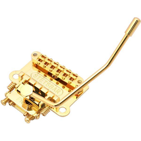 【送料込】STETSBAR STOPTAIL/GOLD ストップテイルピース用 トレモロブリッジ 【smtb-TK】