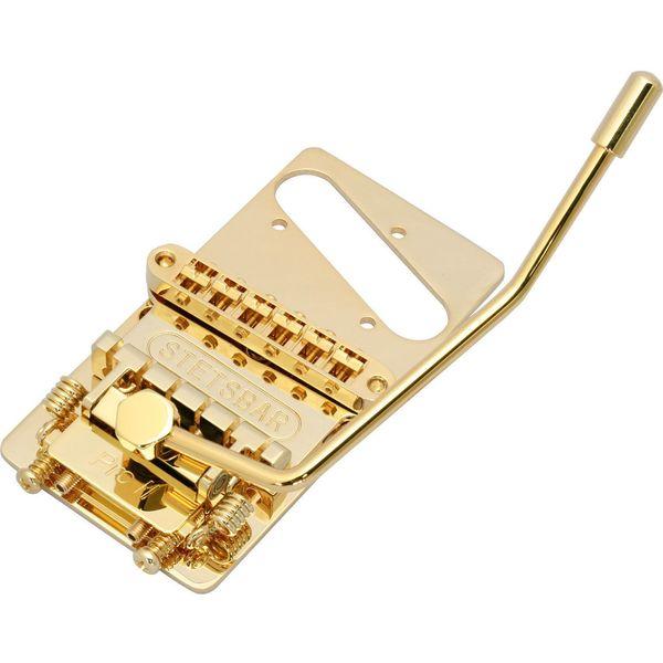 【送料込】STETSBAR T-Style/GOLD テレキャスタータイプ用 トレモロブリッジ 【smtb-TK】
