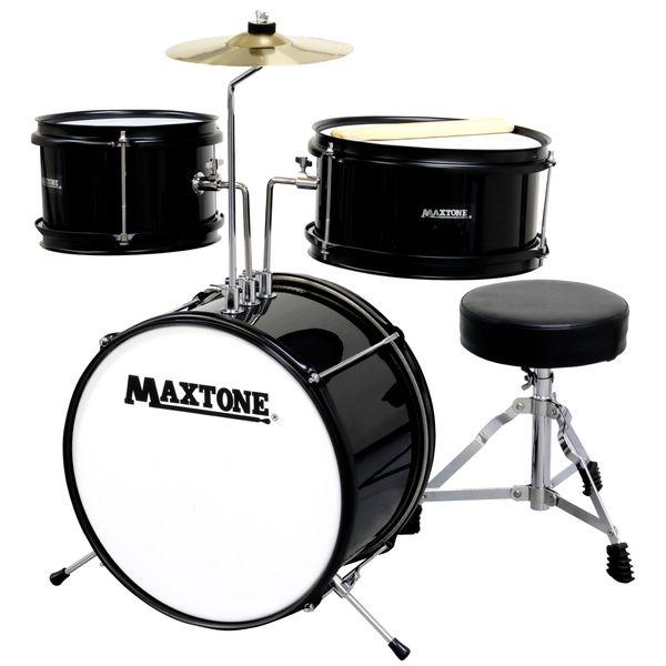 【送料込】MAXTONE マックストーン MX-60/BLK ジュニア ドラムセット 【smtb-TK】