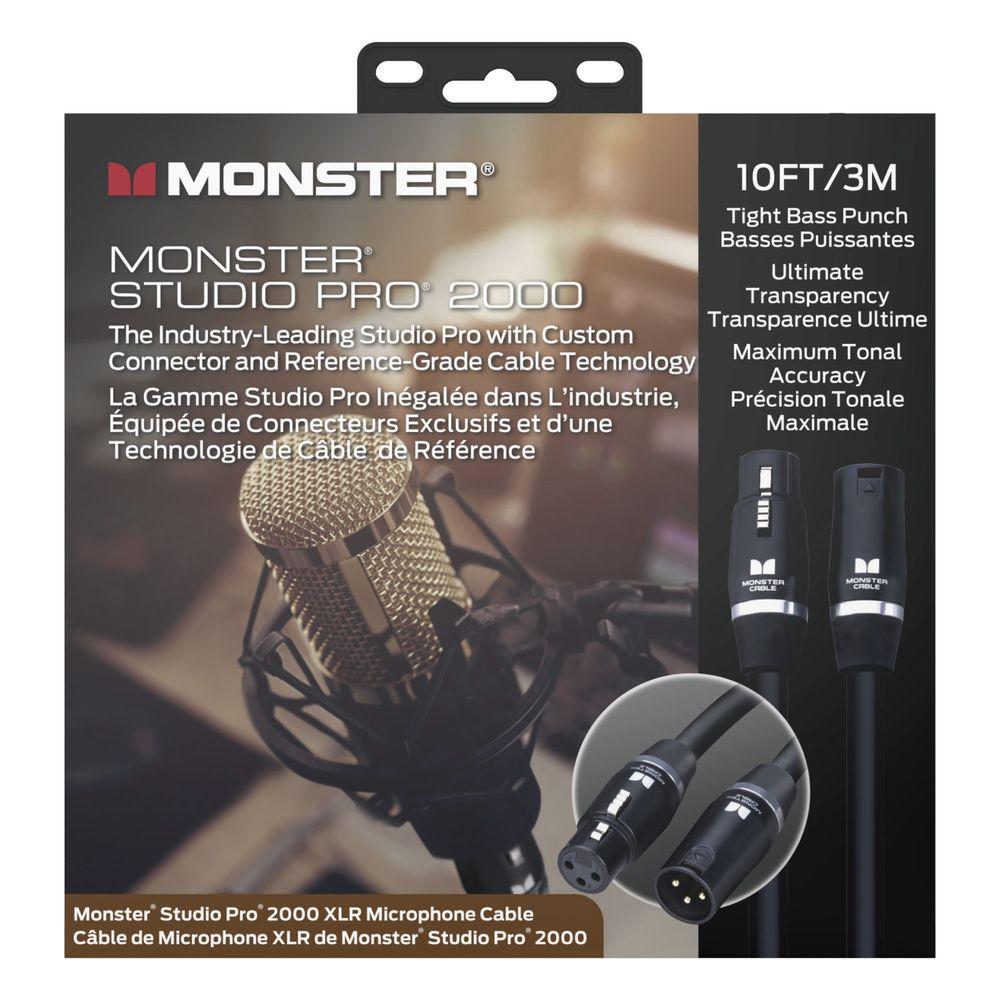 送料込 MONSTER CABLE SP2000-M-20 6m XLRオス-XLRメス 日本限定 MIC 定番 STUDIO 2000 マイクケーブル PRO smtb-TK