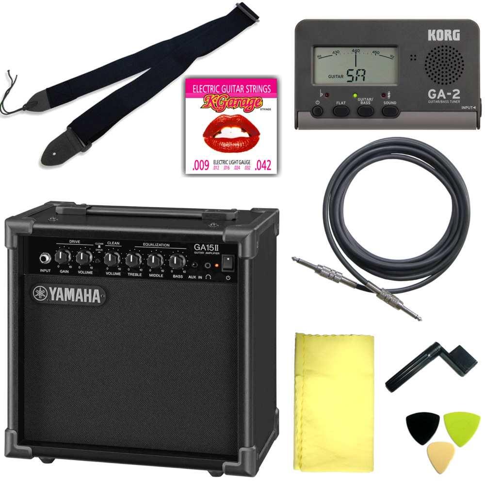エレキギター用アクセサリー定番8点セット/YAMAHAアンプ