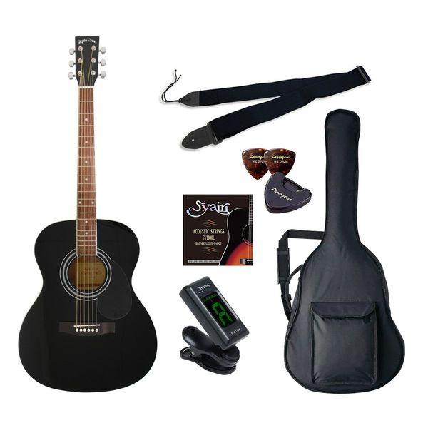 【送料込】【初心者入門6点セット】Sepia Crue セピアクルー FG-10/BK アコースティックギター ライトセット【smtb-TK】