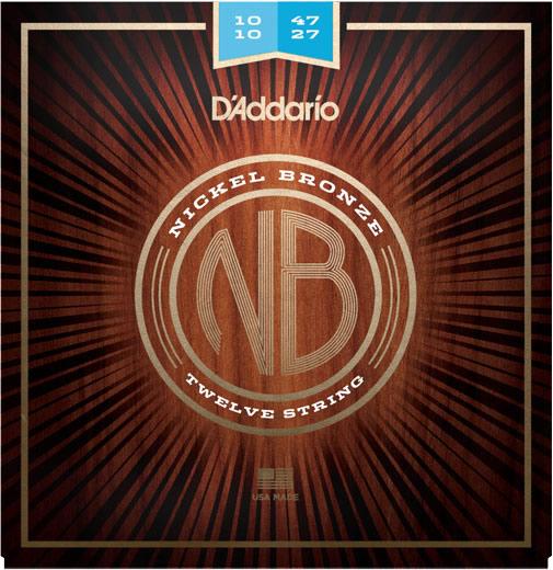 【メール便・送料無料・代引不可】【10セット】D'Addario ダダリオ NB1047-12 12弦アコースティックギター弦【smtb-TK】