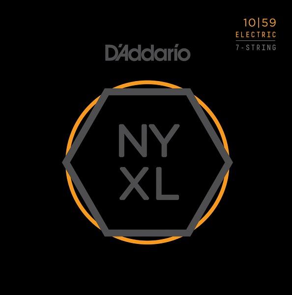 【メール便・送料無料・代引不可】【10セット】D'Addario/ダダリオ NYXL1059 7弦ギター用 Regular Light[10-59]【smtb-TK】