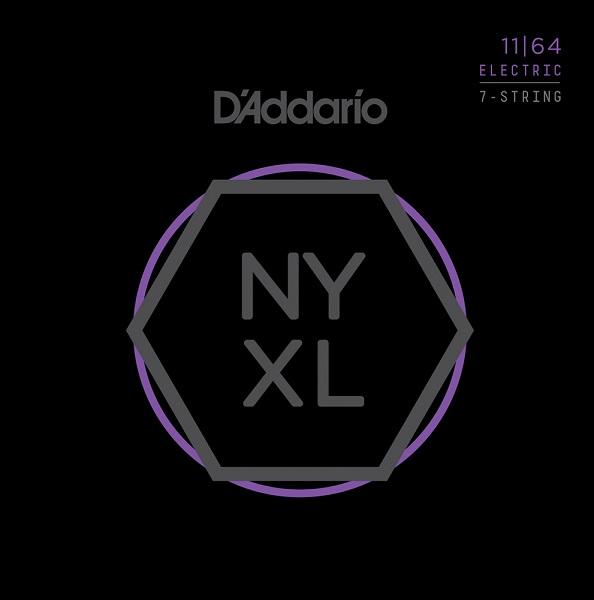 【メール便・送料無料・代引不可】【10セット】D'Addario/ダダリオ NYXL1164 7弦ギター用 Medium[11-64]【smtb-TK】