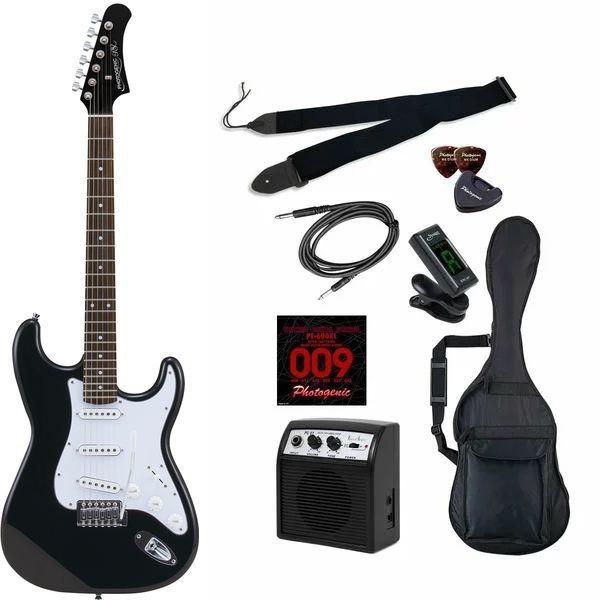 【送料込】【初心者入門9点セット】Photogenic ST-180/HBK エレキギター ライトセット【smtb-TK】