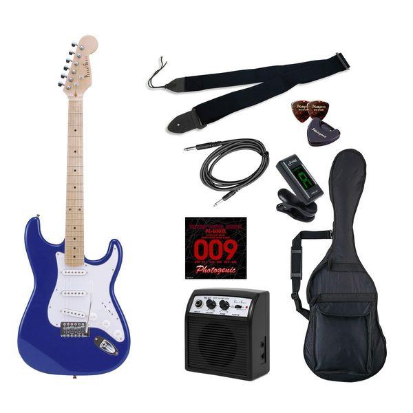 【送料込】【初心者入門9点セット】Photogenic ST-180M/MBL エレキギター ライトセット【smtb-TK】